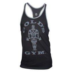 Golds Gym Contrast Stringer Schwarz