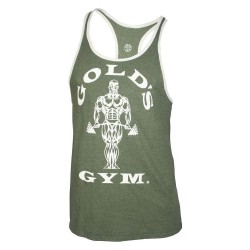 Golds Gym Contrast Stringer Olivgrün