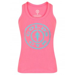Golds Gym Ladies Fitted Tank Top Pink