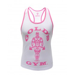Golds Gym Ladies Stringer Weiss