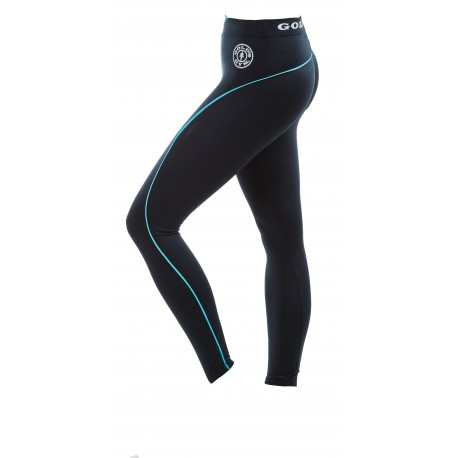 Golds Gym Ladies Leggins Schwarz-Türkis