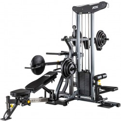 ATX Multiplex Workout Station + 150kg Guss Scheiben Set